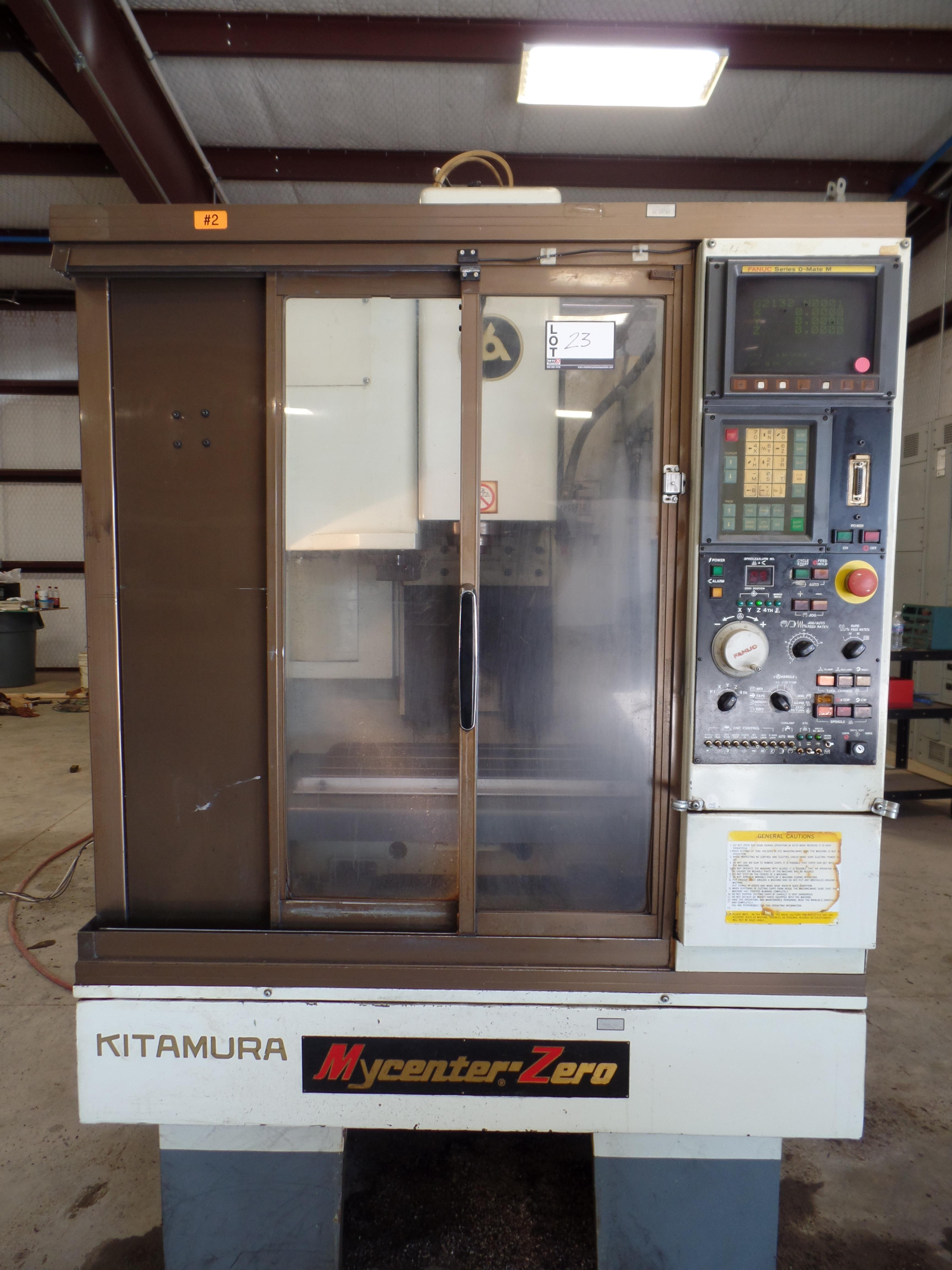 "1997 Kitamura MyCenter 0 CNC Mill, Fanuc o-Mate control, travels 12"" x, 10"" y, 12'' z, NST 30 tape - Image 2 of 6"