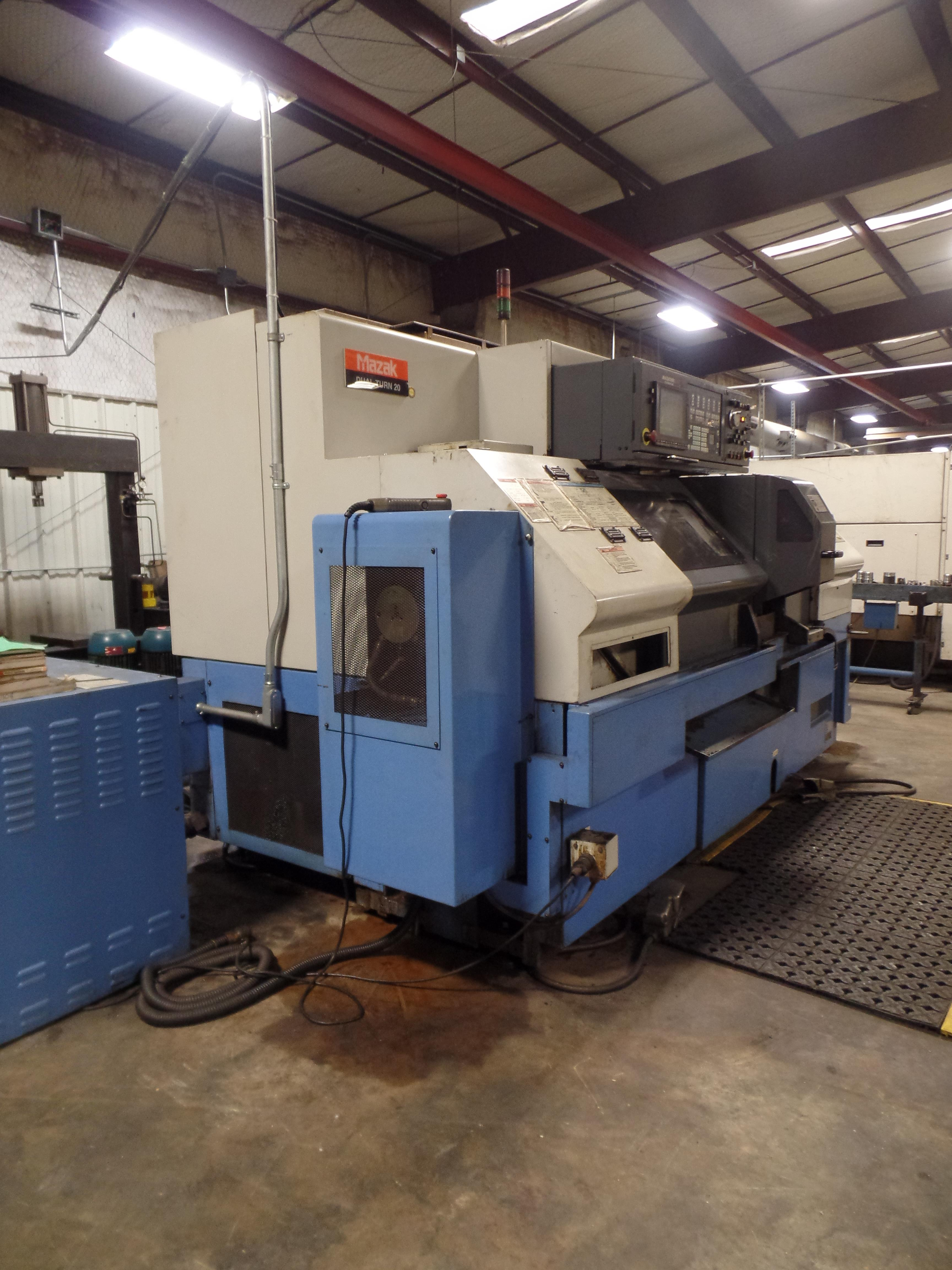 Lot 5 - 2002 Mazak Dual Turn 20 4 Axis Twin Spindle Twin Turret Opposed CNC Turning Center, rear discharge