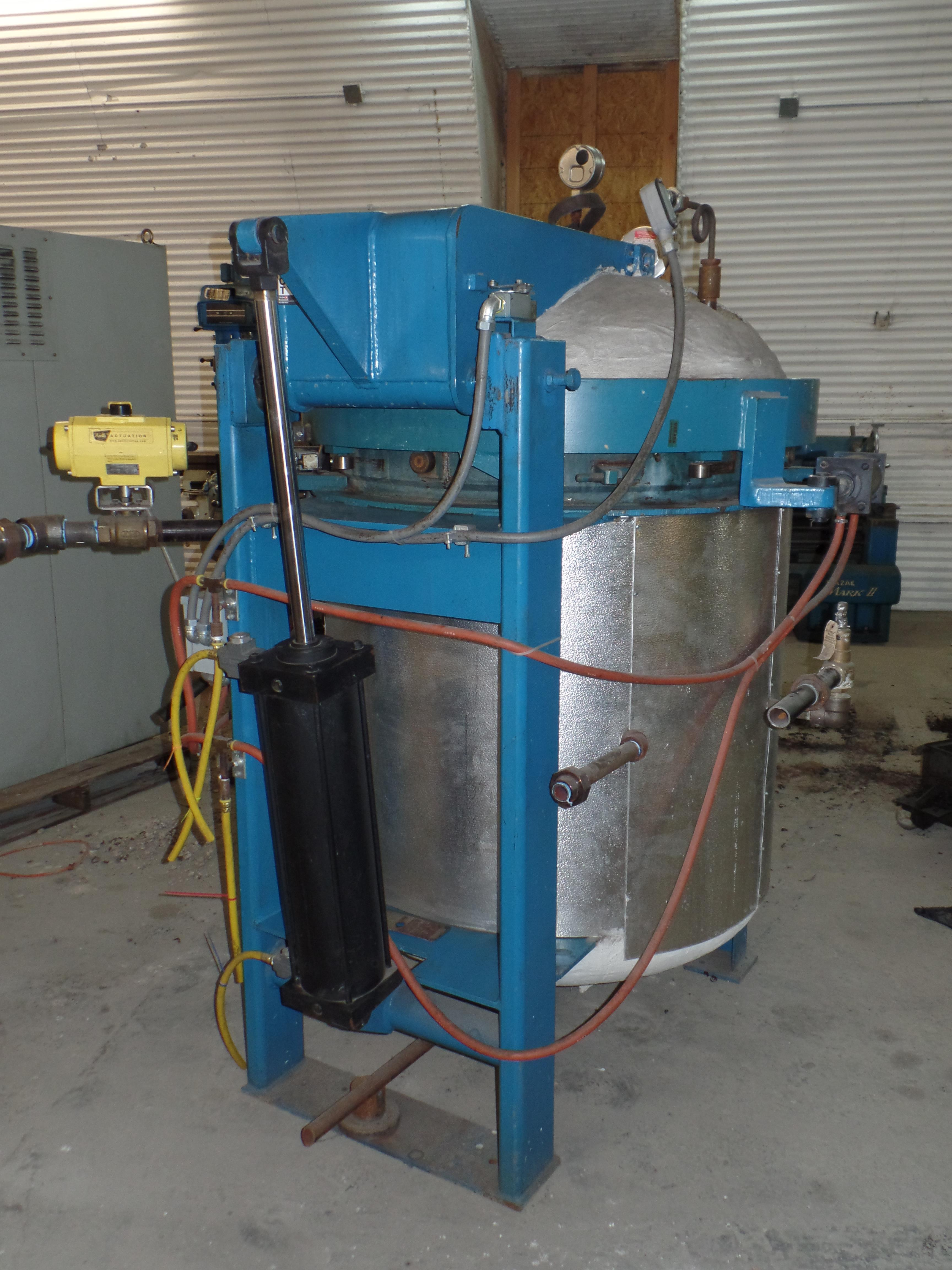 """W.S.F. Vertical Steam Autoclave, 35"""" ID x 48"""" H, 135 PSIG @ 360 deg F, solid state control, hyd - Image 4 of 5"""