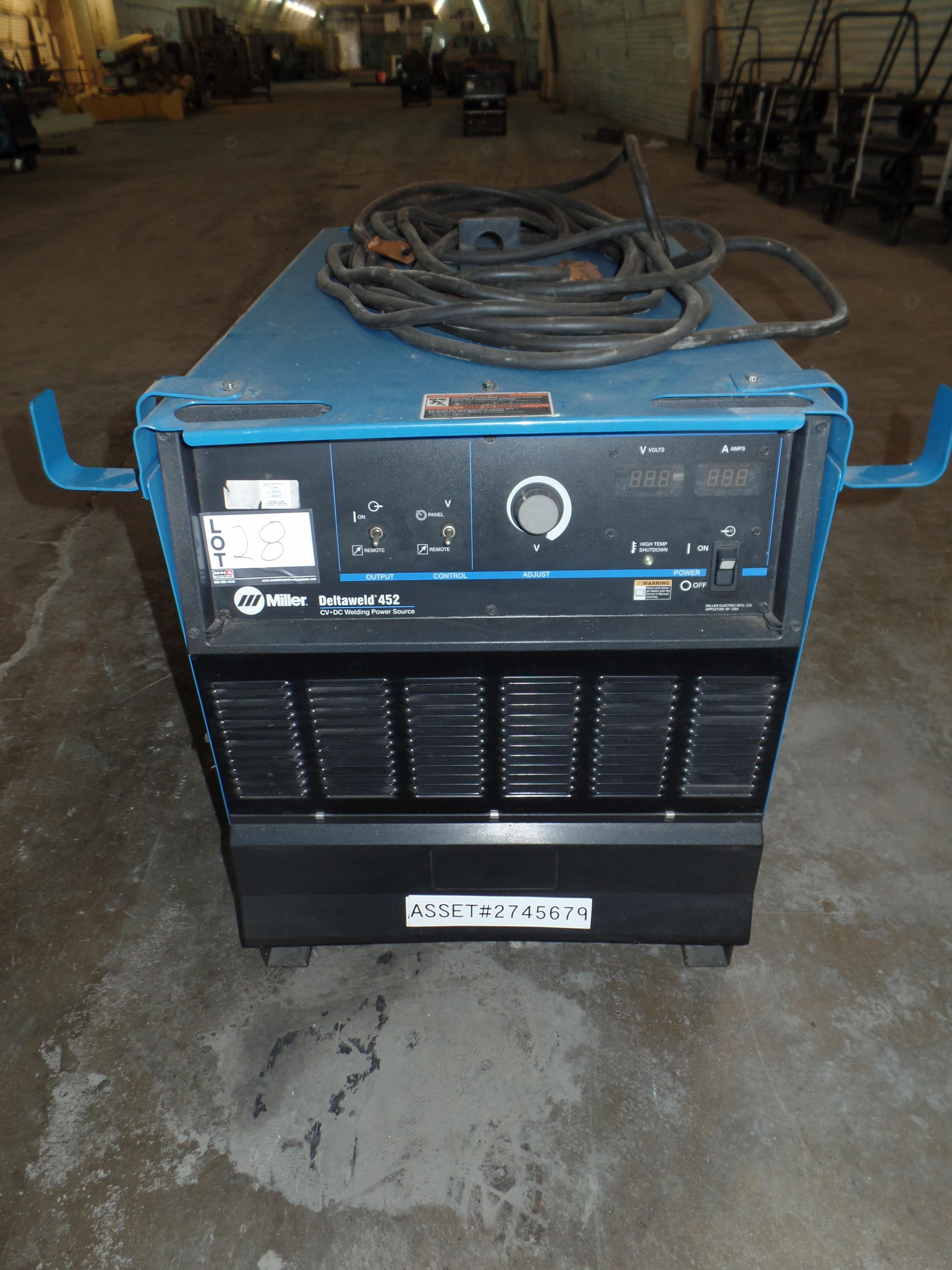 Deltaweld 452 MIG Welder S/N MC470025C (Located in Fort Worth, TX)