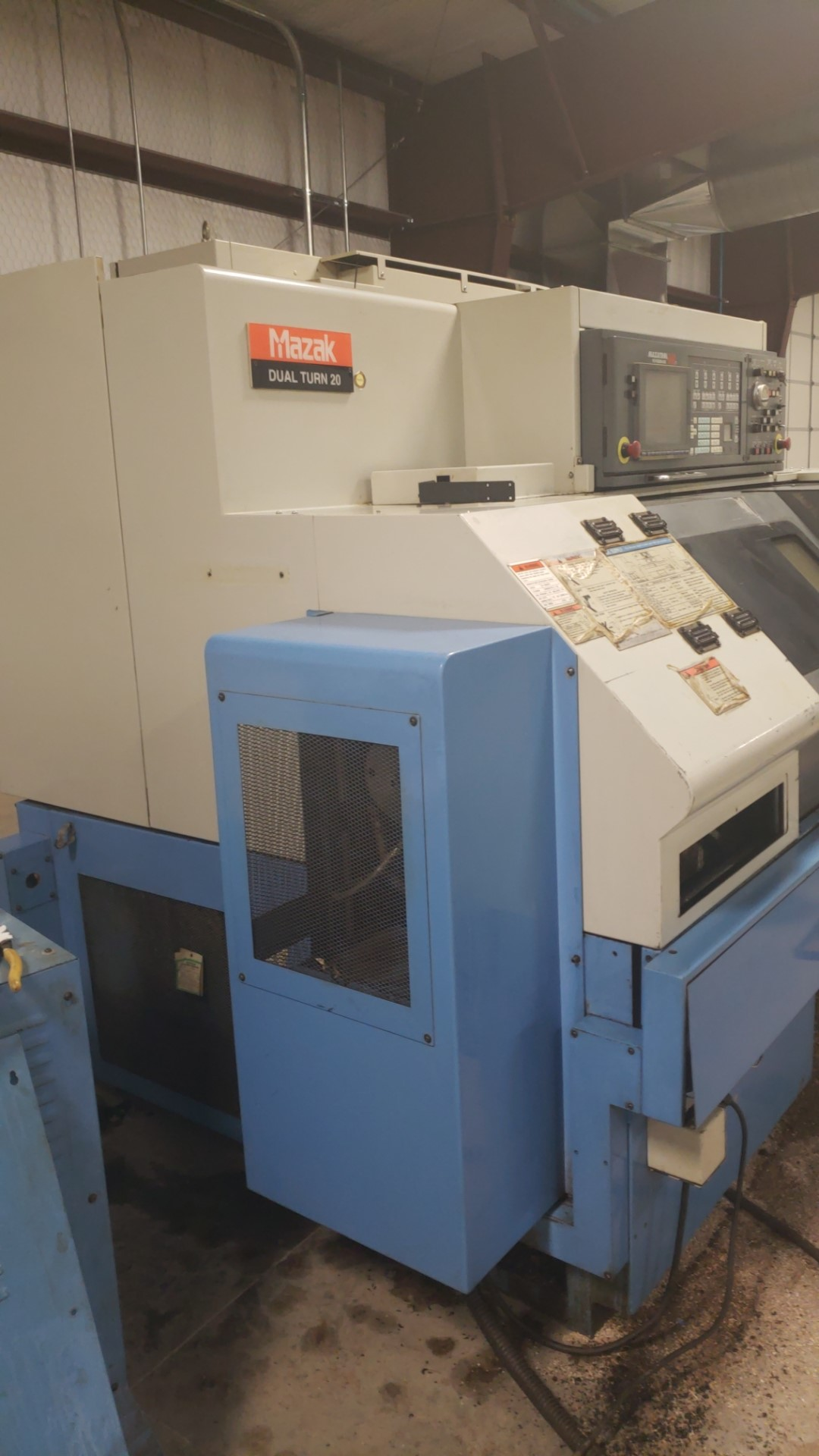 2004 Mazak Dual Turn 20 4 Axis Twin Spindle Twin Turret Opposed CNC Turning Center, rear discharge - Image 5 of 9