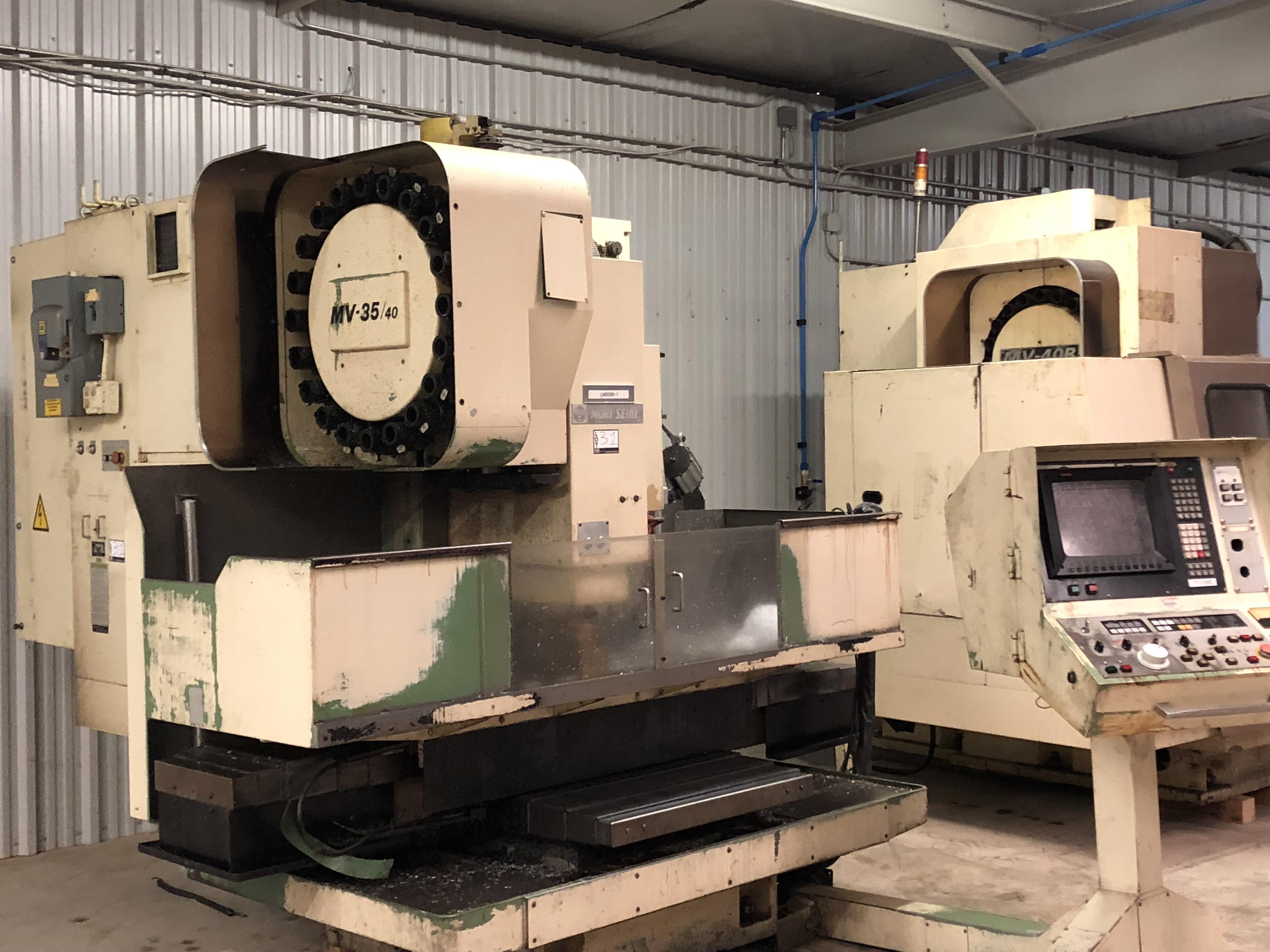 "Mori Seiki MV 35/40 CNC Mill, Fanuc 11M control w/ LCD screen CAT 40 spindle, 20 POS ATC, 30""x X - Image 2 of 6"