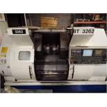 2005 Nakamura TW-20 Twin Spindle Twin Turret Opposed CNC Lathe, Funuc 18iTB CNC control chip, side