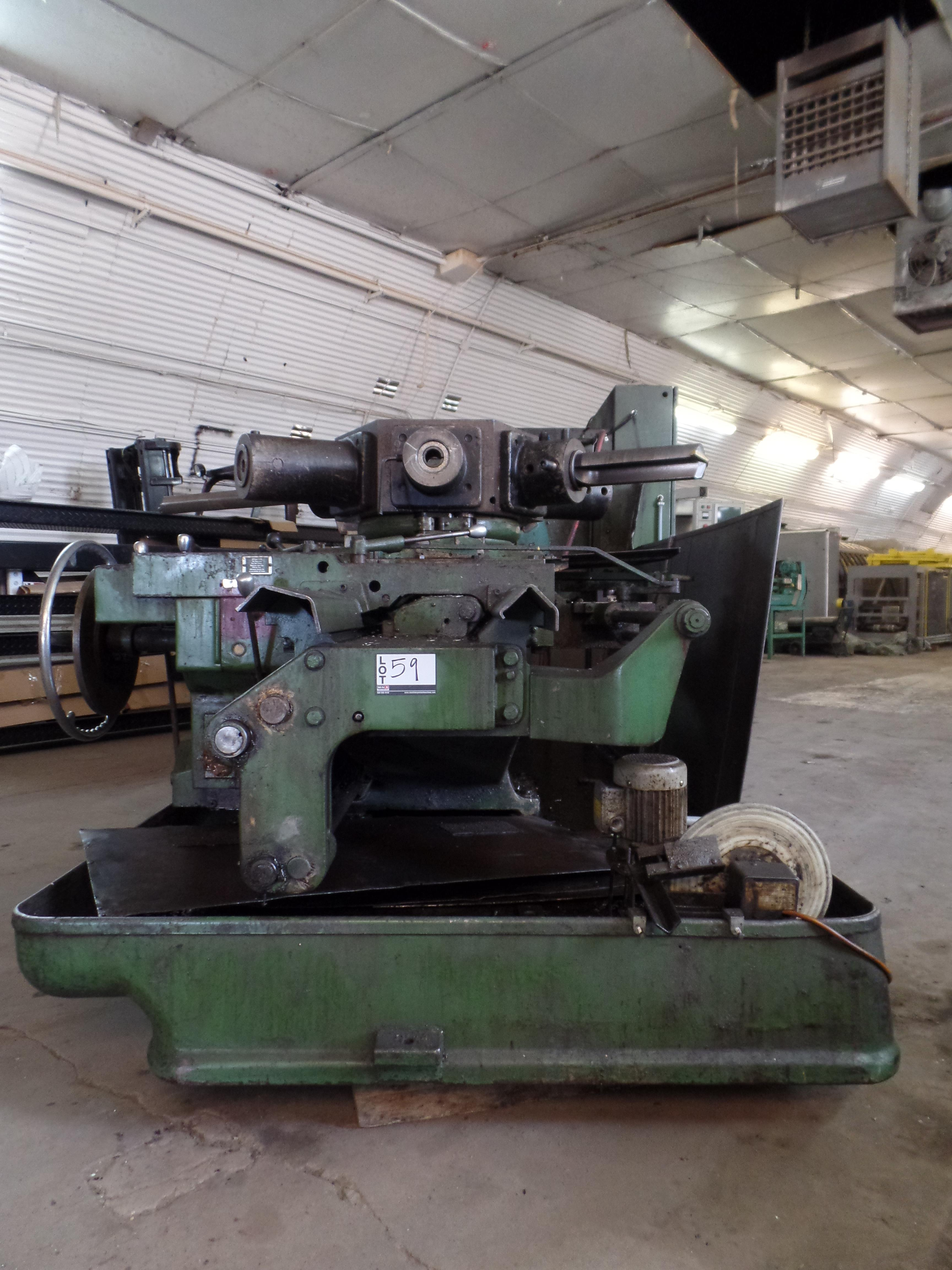 "Lot 27 - Warner & Swasey #4A M-3550 Turret Lathe, 9.5"" Spindle Bore, 36"" Sw, scorrs sliding turret"