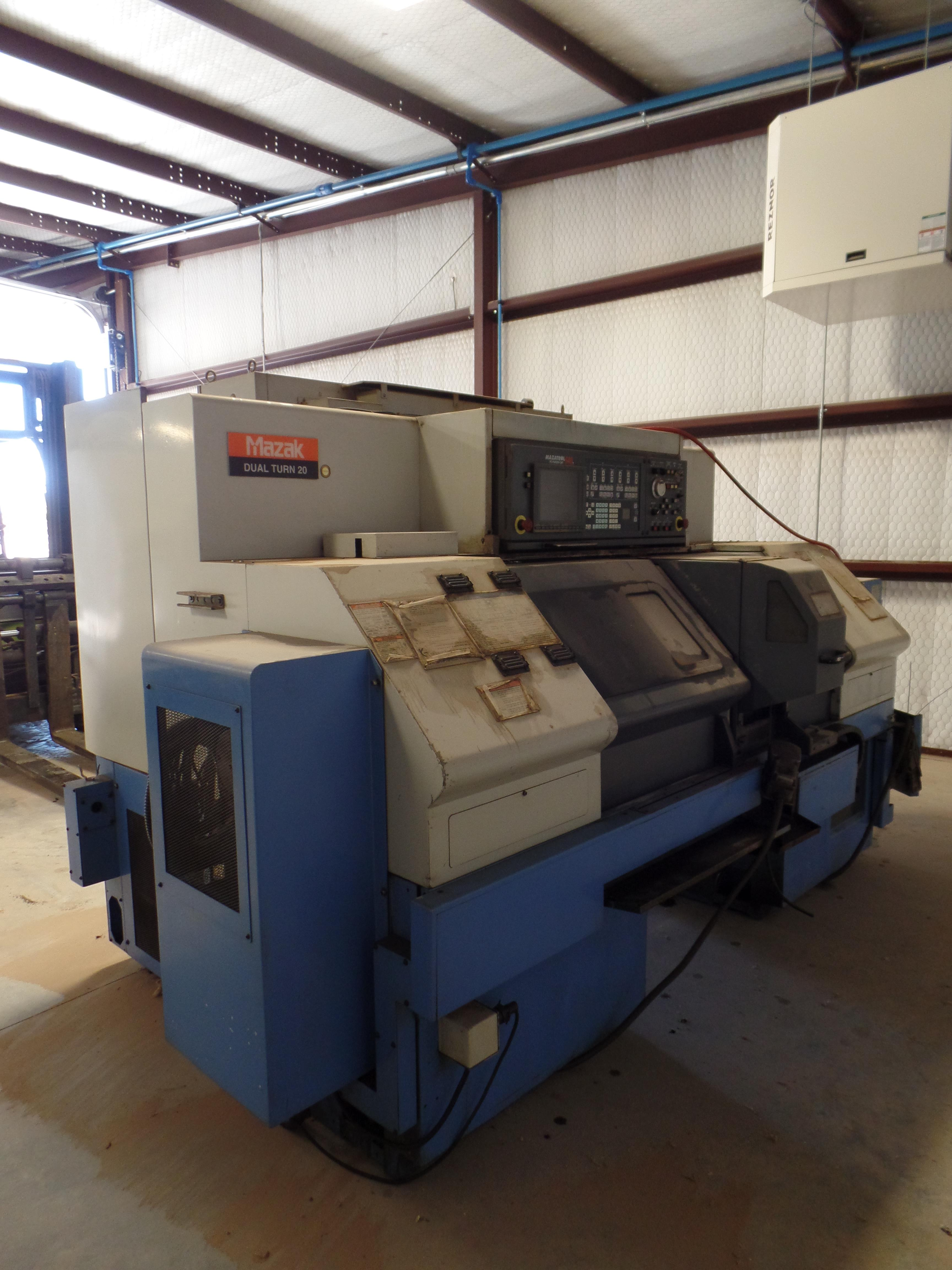 Lot 15 - 2003 Mazak Dual Turn 20 4 Axis Twin Spindle Twin Turret Opposed CNC Turning Center, rear discharge