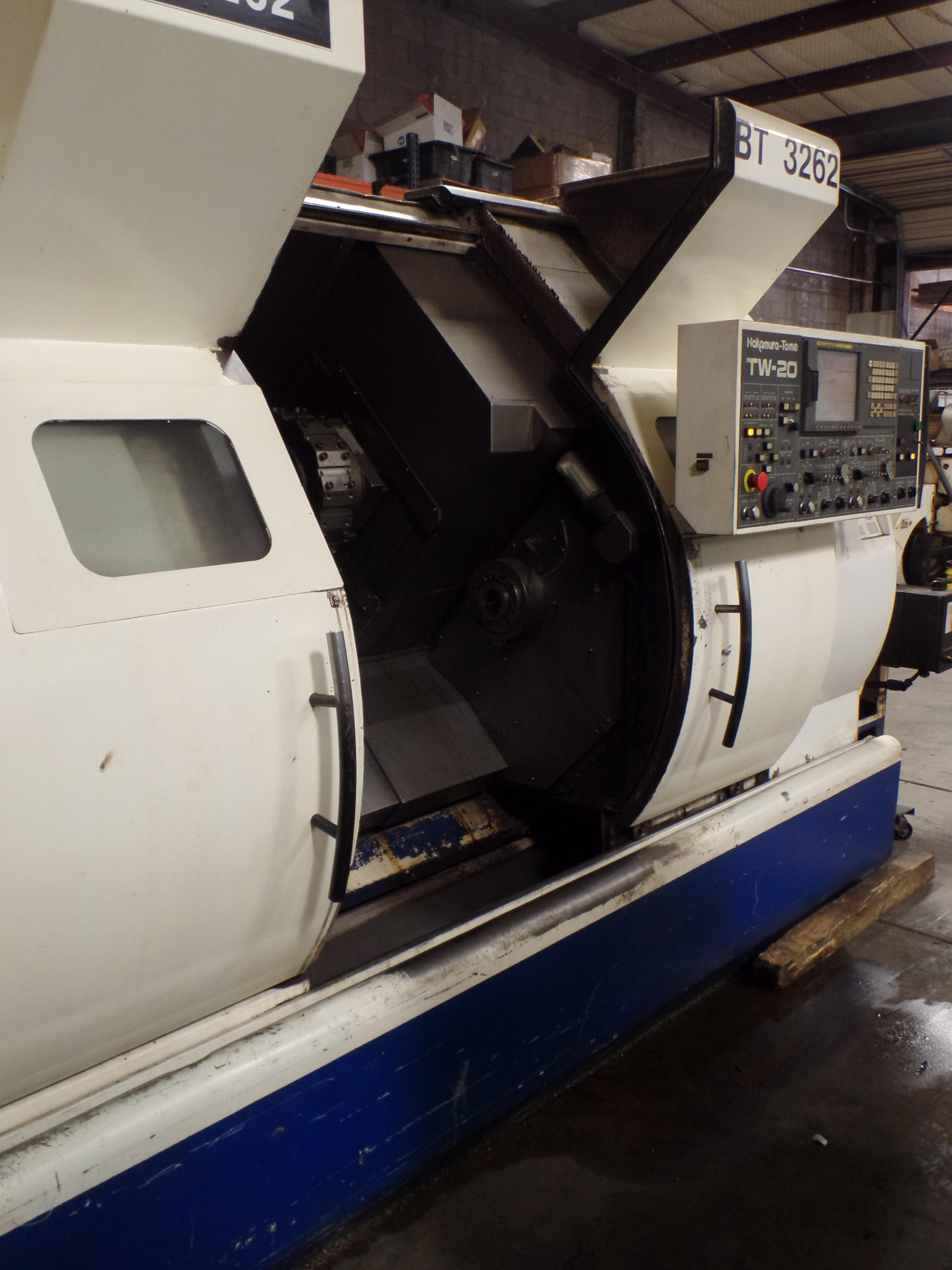 2005 Nakamura TW-20 Twin Spindle Twin Turret Opposed CNC Lathe, Funuc 18iTB CNC control chip, side - Image 11 of 18