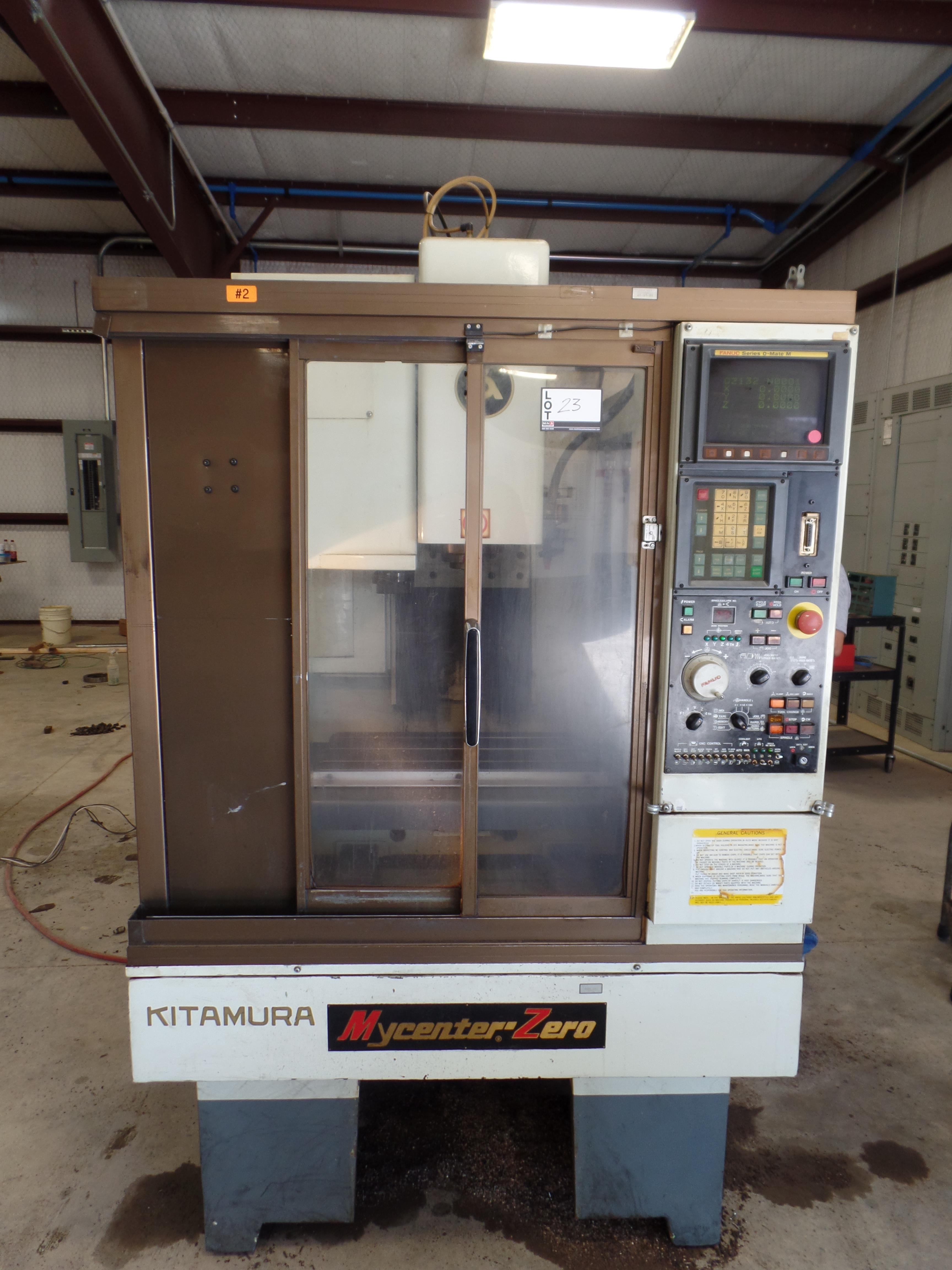 "1997 Kitamura MyCenter 0 CNC Mill, Fanuc o-Mate control, travels 12"" x, 10"" y, 12'' z, NST 30 tape"