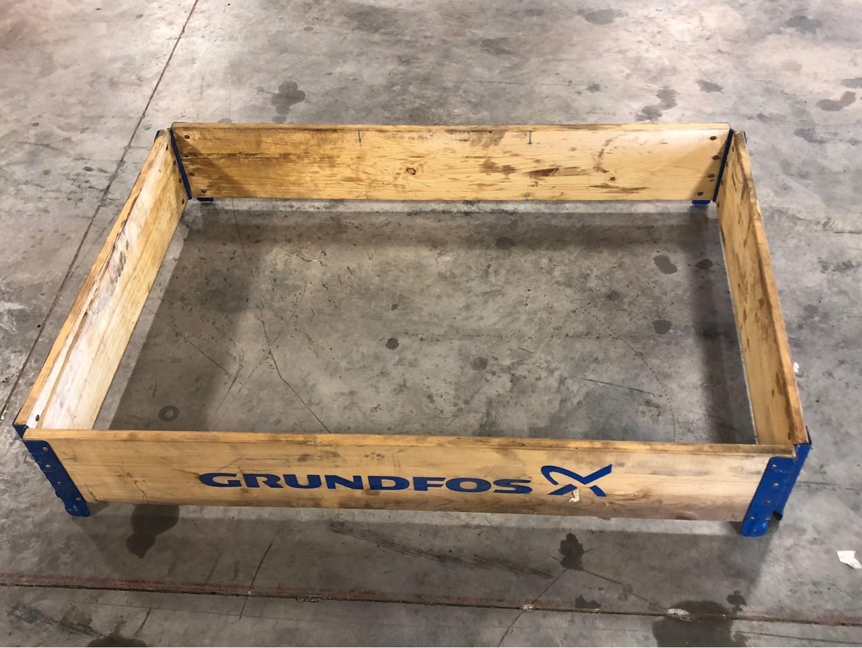 Lot 39 - 95 pcs- 29-3/4 X 45-5/8 X 7-1/4 Inside dimensions, Stackable wood frames for pallets