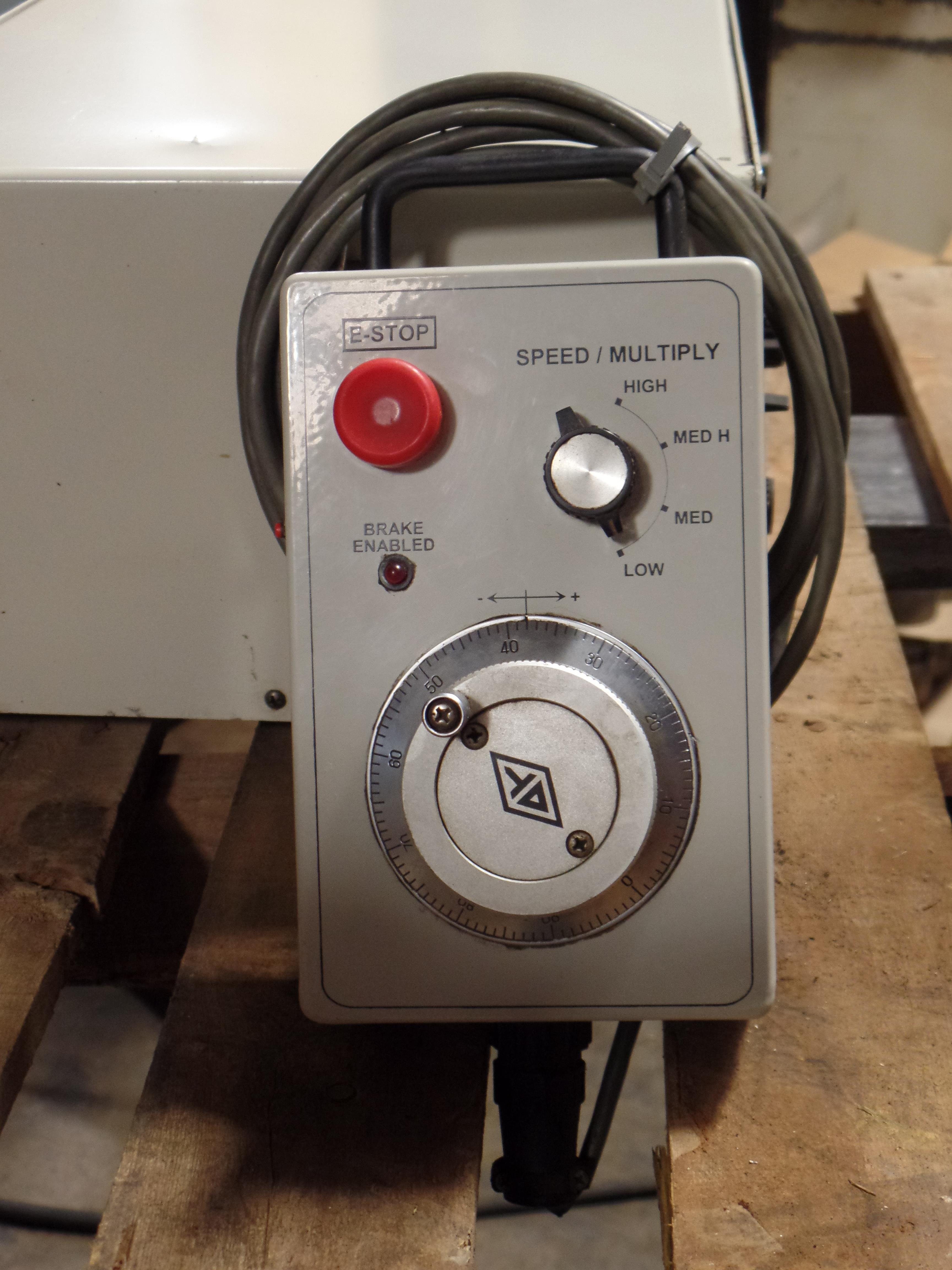 """Yuasa 4th Axis Indexer w/ control box and steady rest, 11"""" 3 jaw chuck w/hard jaws, model UDX-28001 - Image 10 of 12"""