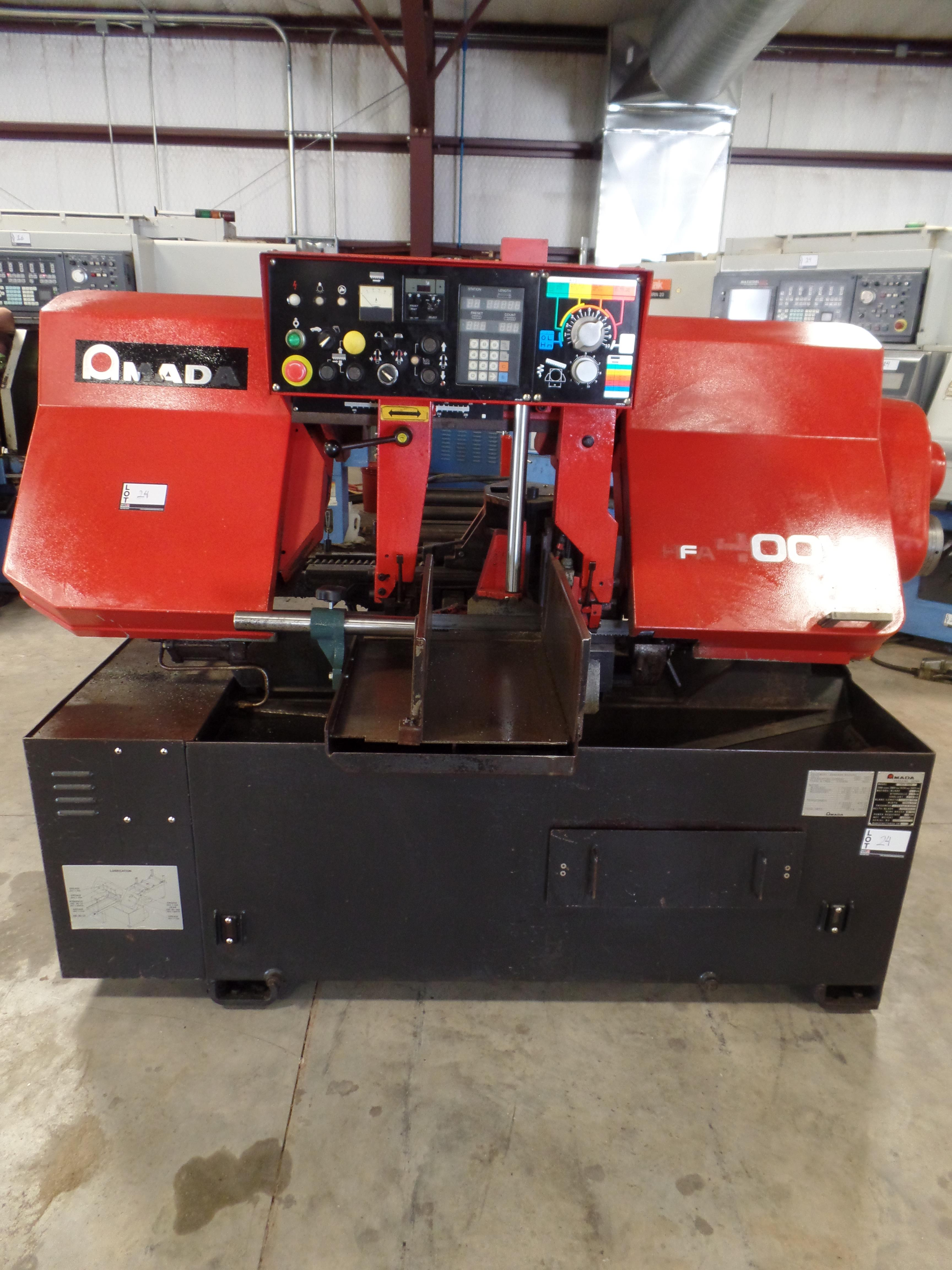 "1995 Amada HFA 400W band saw, Automatic bar-feed, 16"" round bar capacity, 1-1/2"" wide blade SN: - Image 5 of 7"