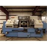 2004 Mazak Dual Turn 20 4 Axis Twin Spindle Twin Turret Opposed CNC Turning Center, rear discharge