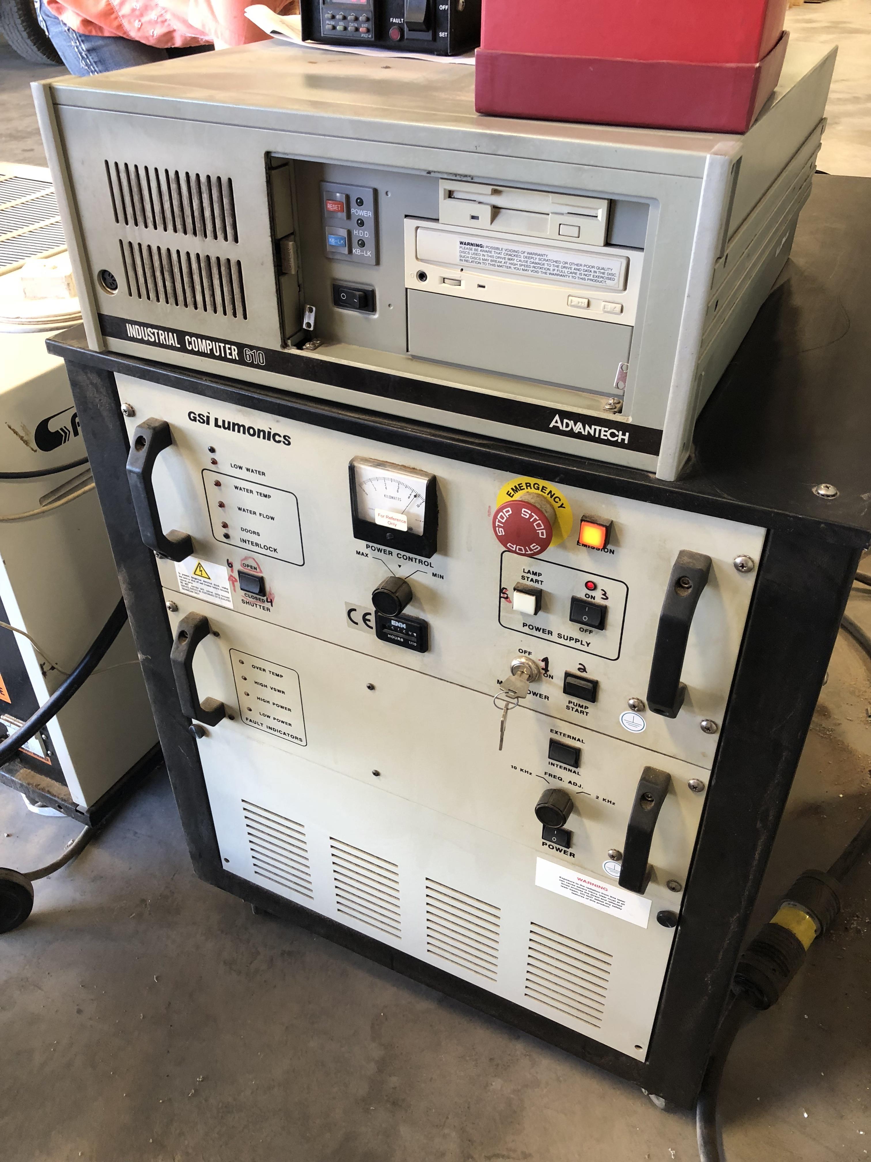 GSI Lumonics HM1400 Laser Marker w/YAG T818/FS/CE Laser, LPS 30 CCS Power Supply 100 watt, - Image 5 of 10