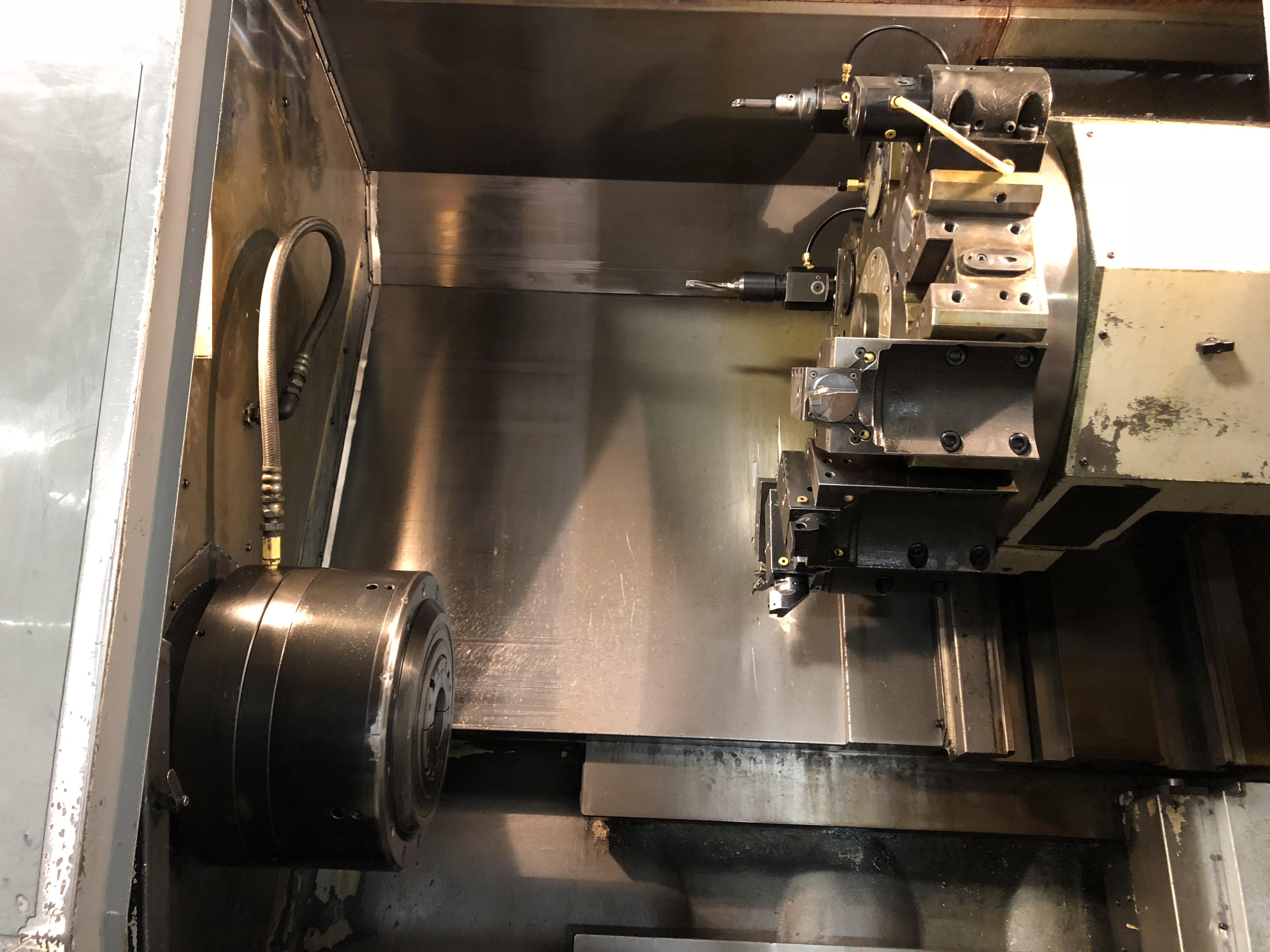 Lot 1 - 1994 Mori Seiki SL-45MC/1000 CNC live tool turning center, Mori T6F11 control, chip conveyor, flex