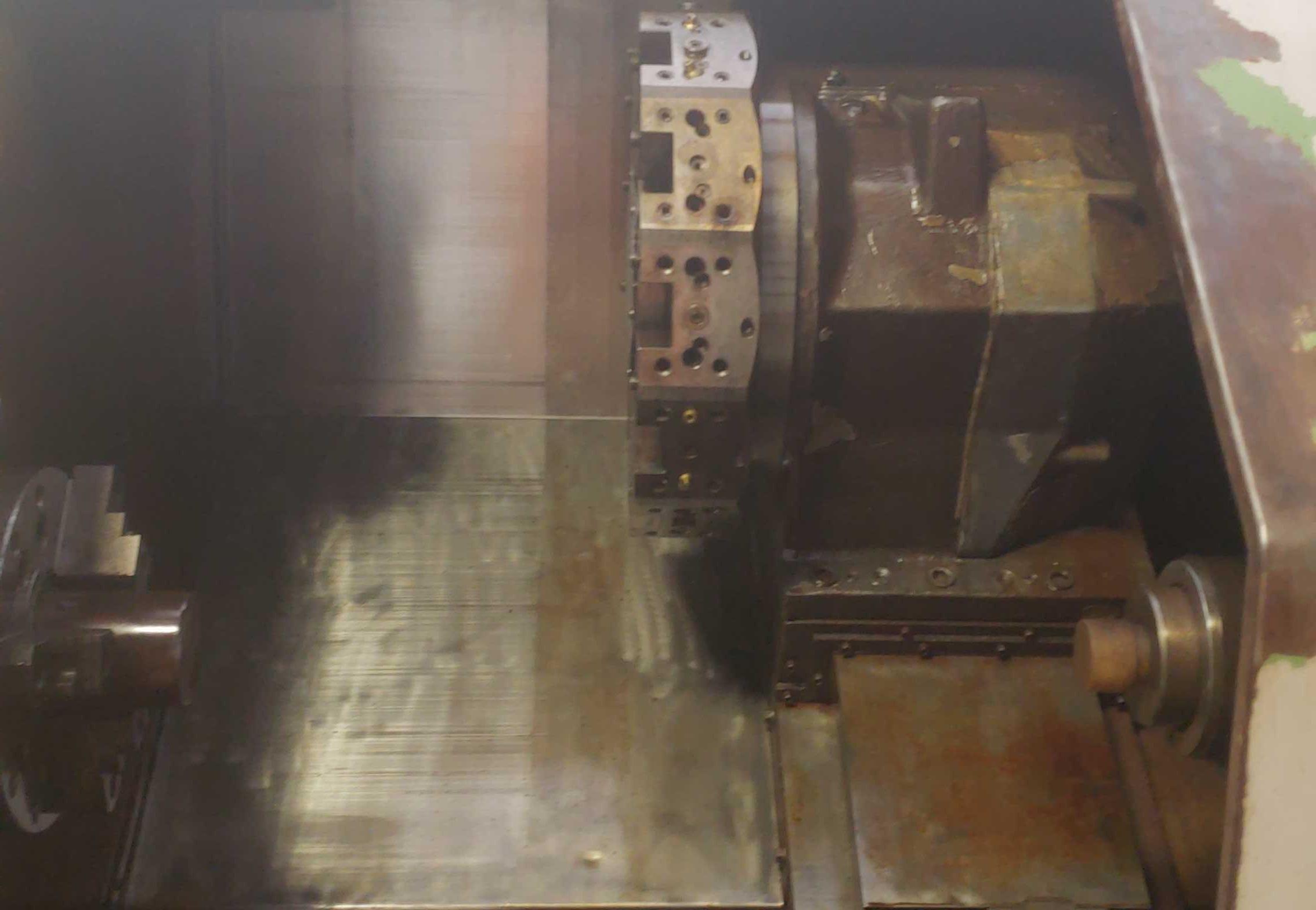 "Okuma LB 25 2 Axis CNC lathe, 5020 control, chip conveyor, 10"" chuck SN: 06119625 - Image 2 of 7"
