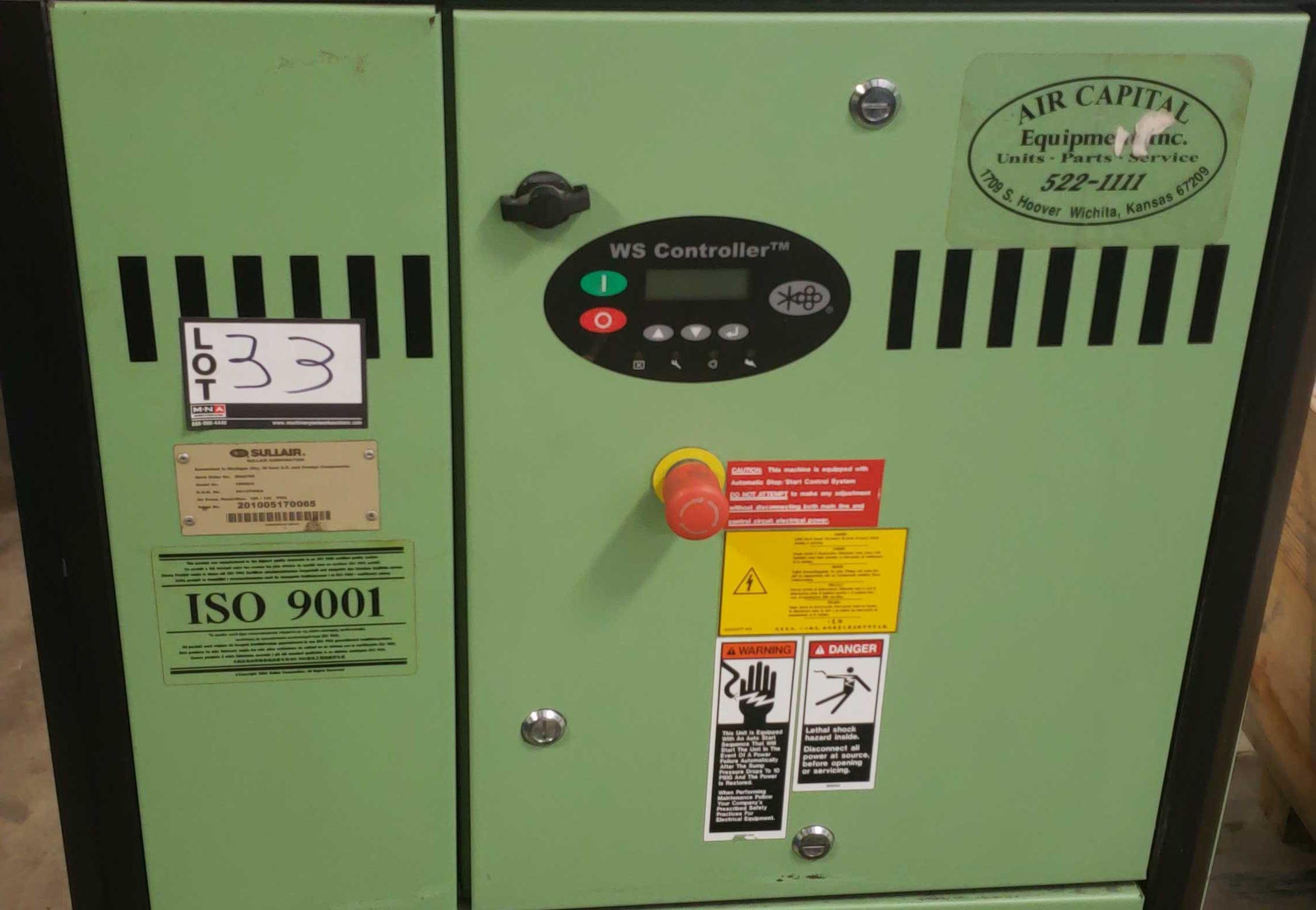 Lot 33 - Sullair 1800e model 1809E1A 25HP Air Compressor 201005170065