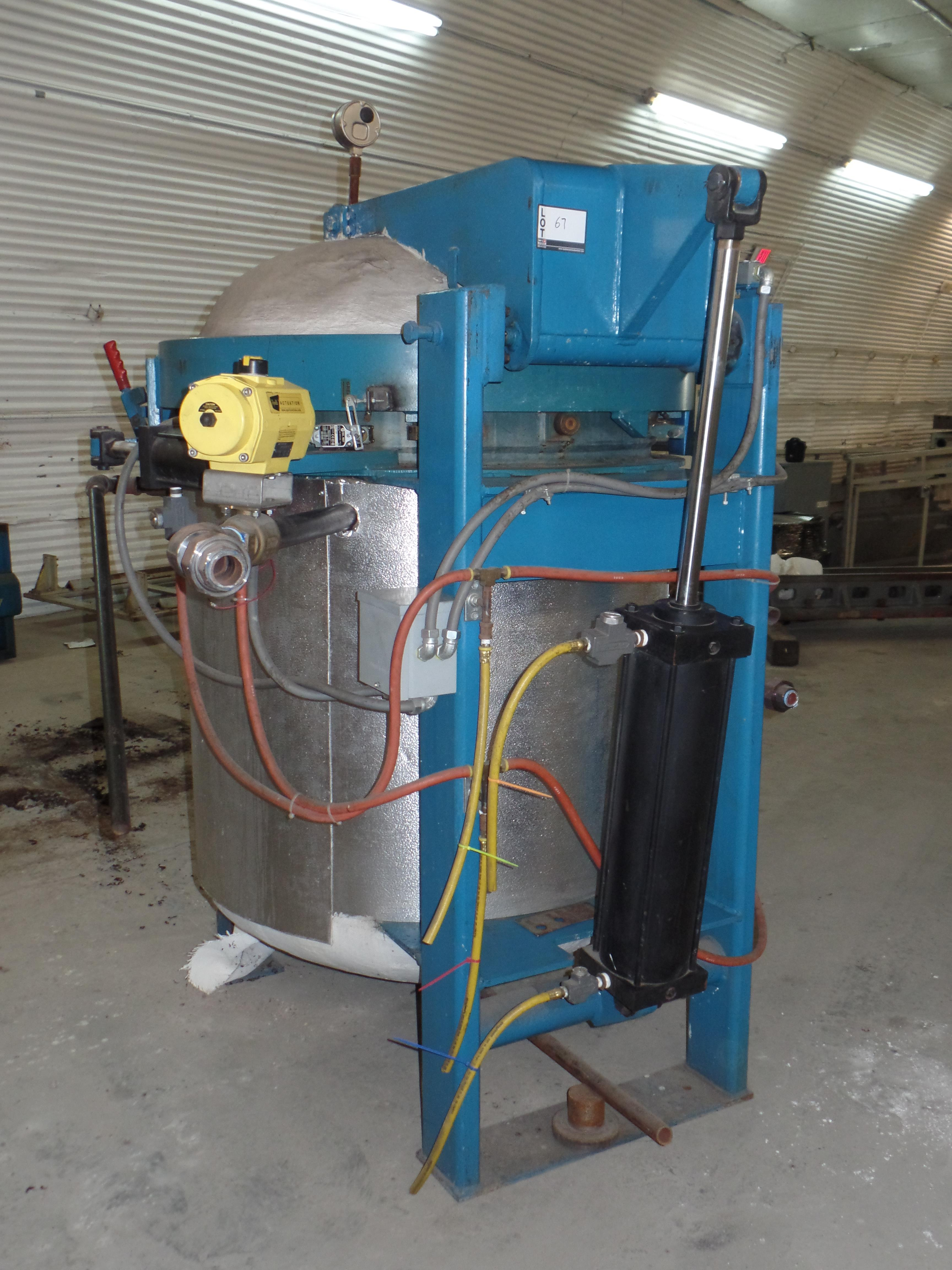 """W.S.F. Vertical Steam Autoclave, 35"""" ID x 48"""" H, 135 PSIG @ 360 deg F, solid state control, hyd - Image 2 of 5"""