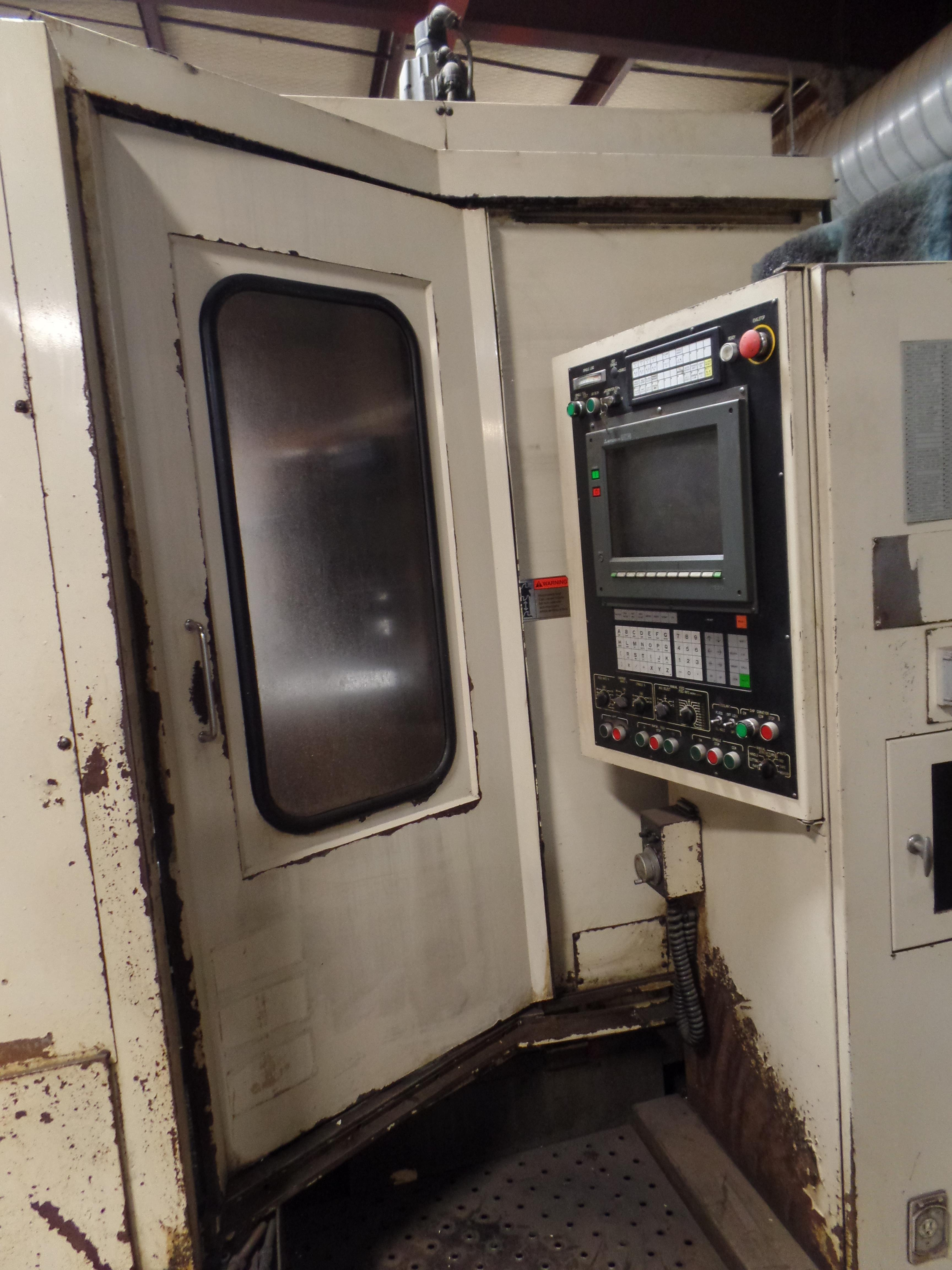 "1992 Mitsubishi M-H50C, 300 control, Meldas.19.7""pallets 28.4""x24.8""x28.4"" travels, 4000 rpm, - Image 5 of 9"