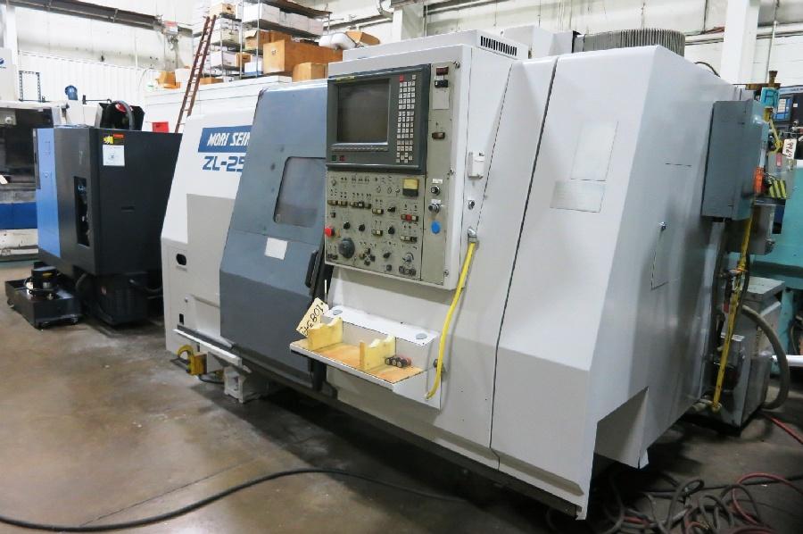 "1995 Mori Seiki ZL-25 4 Axis CNC Turning Center, Mori MSD-516 control, 10"" chuck, chip conveyor - Image 2 of 6"