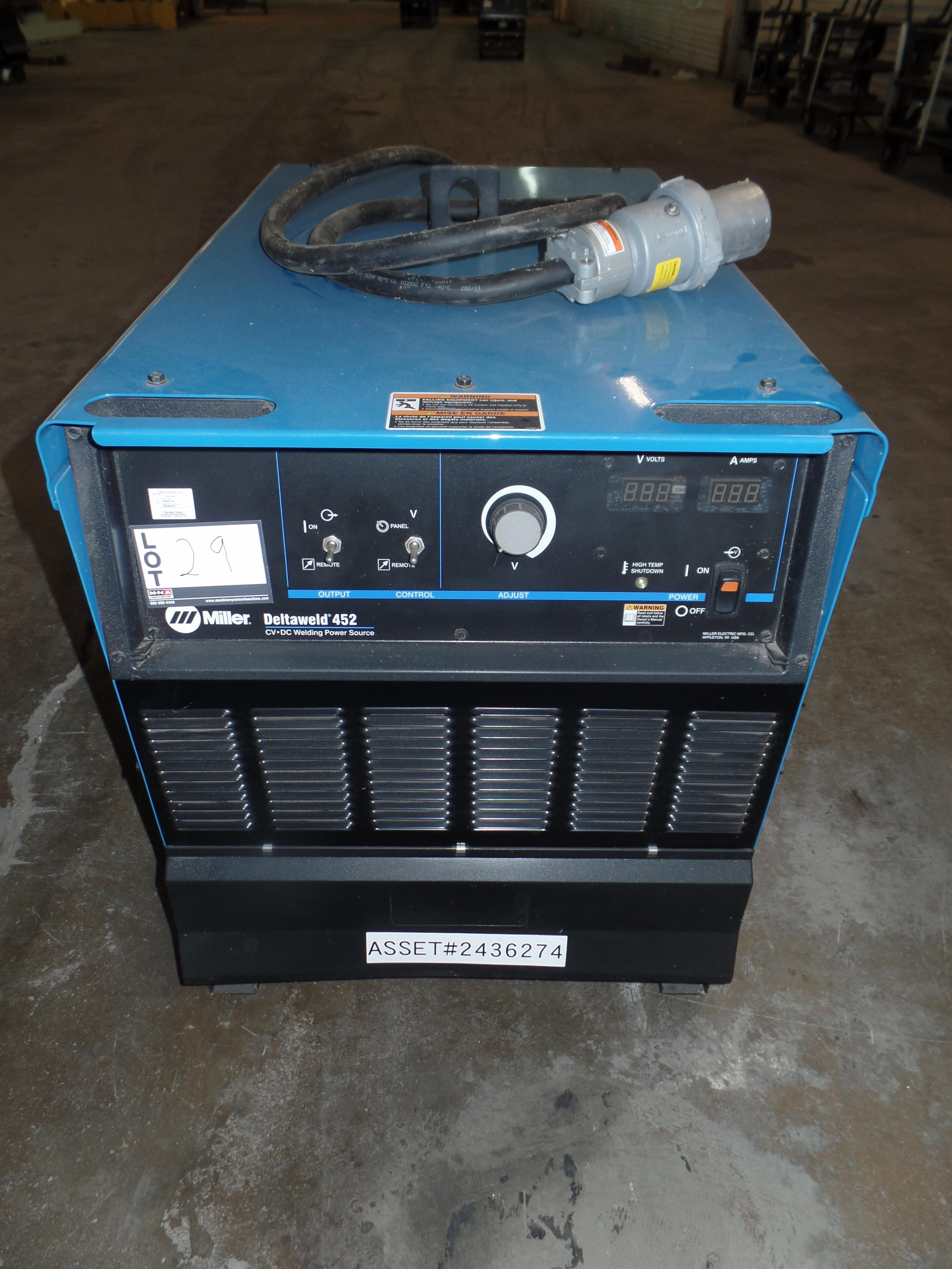 Deltaweld 452 MIG Welder S/N ME210142C (Located in Fort Worth, TX)