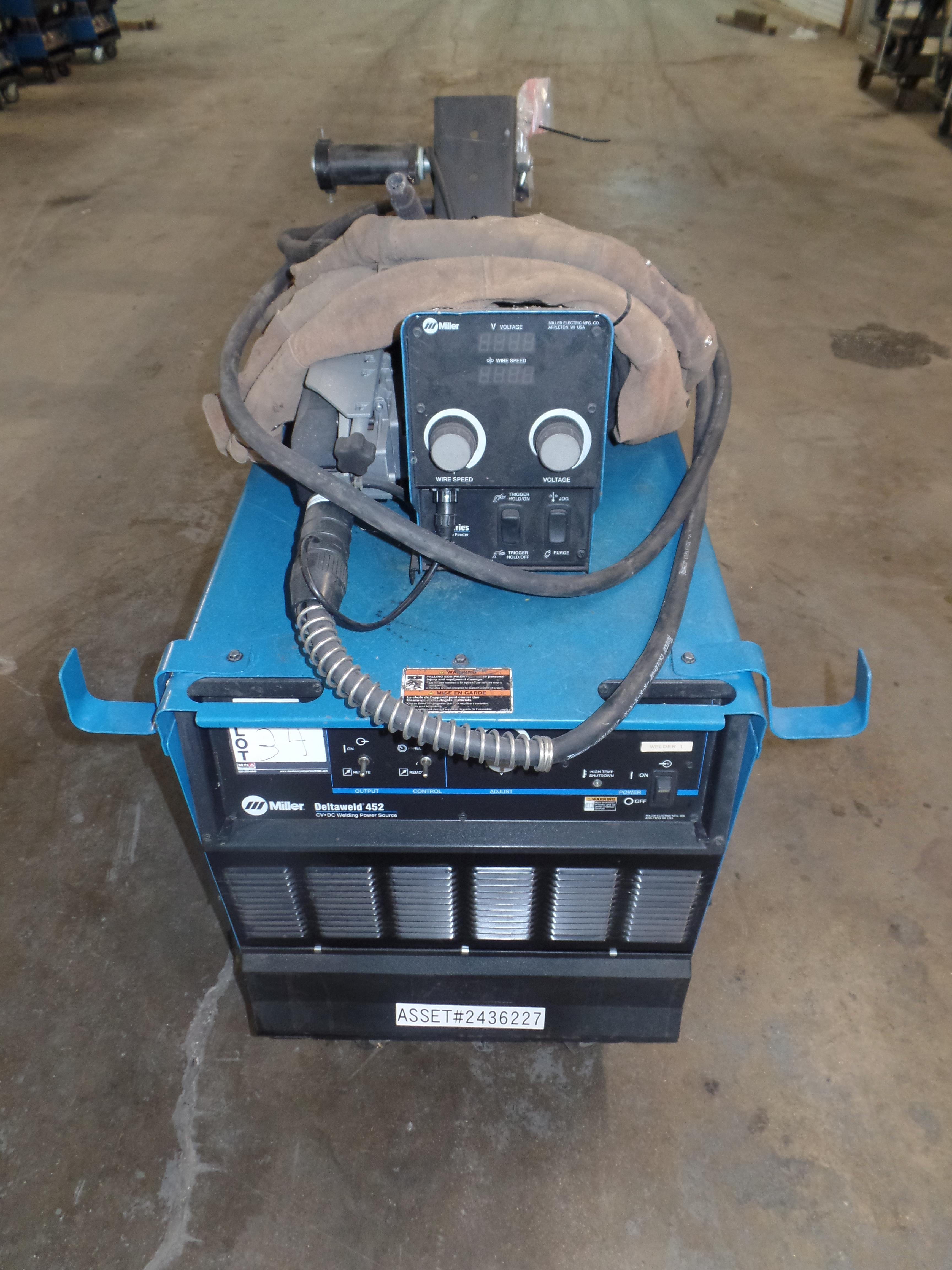 Deltaweld 452 MIG Welder, Wire Feeder, S/N MC470027C (Located in Fort Worth, TX) - Image 2 of 6