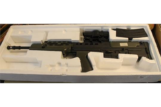 Model SA80 British military rifle, Airsoft air rifle in