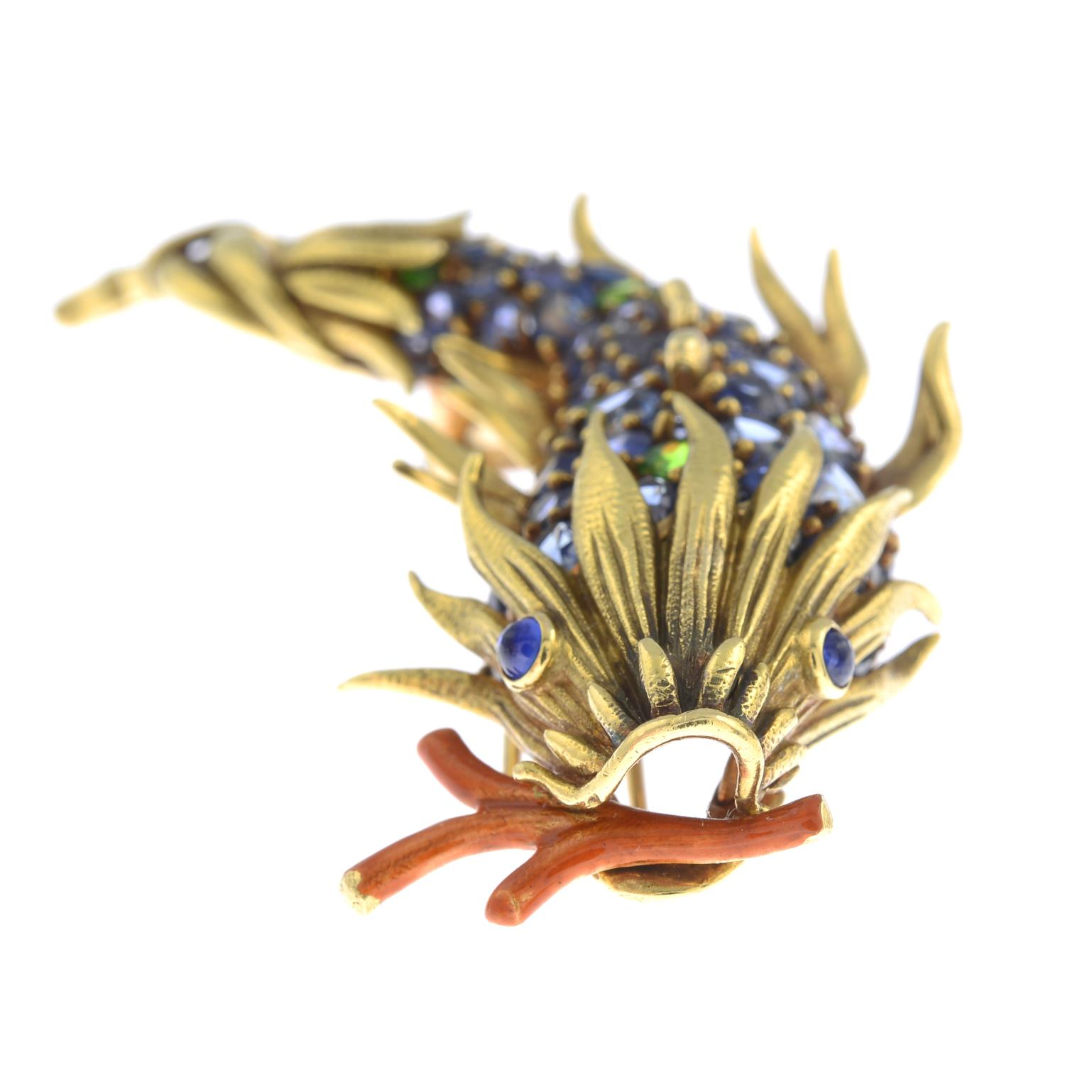 A gold, sapphire, - Image 4 of 5