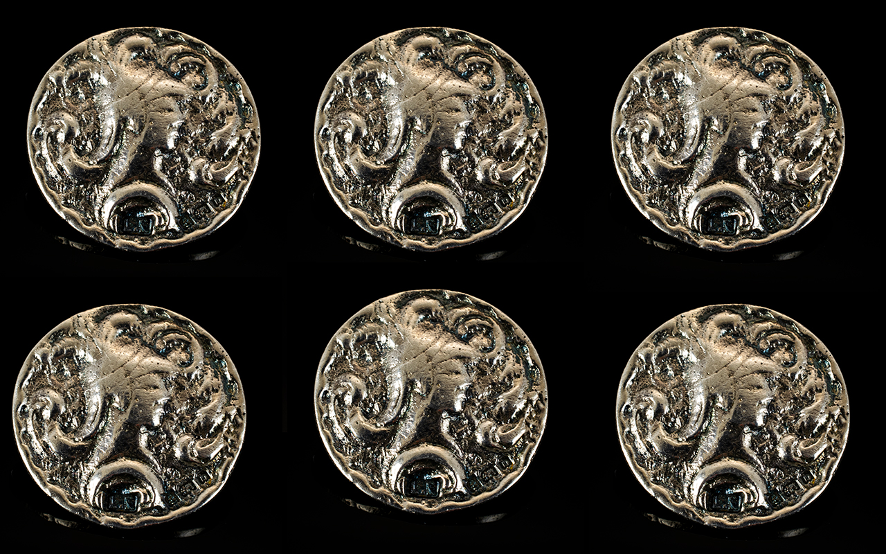 Lot 63 - Arts and Crafts Period Set of Six Silver