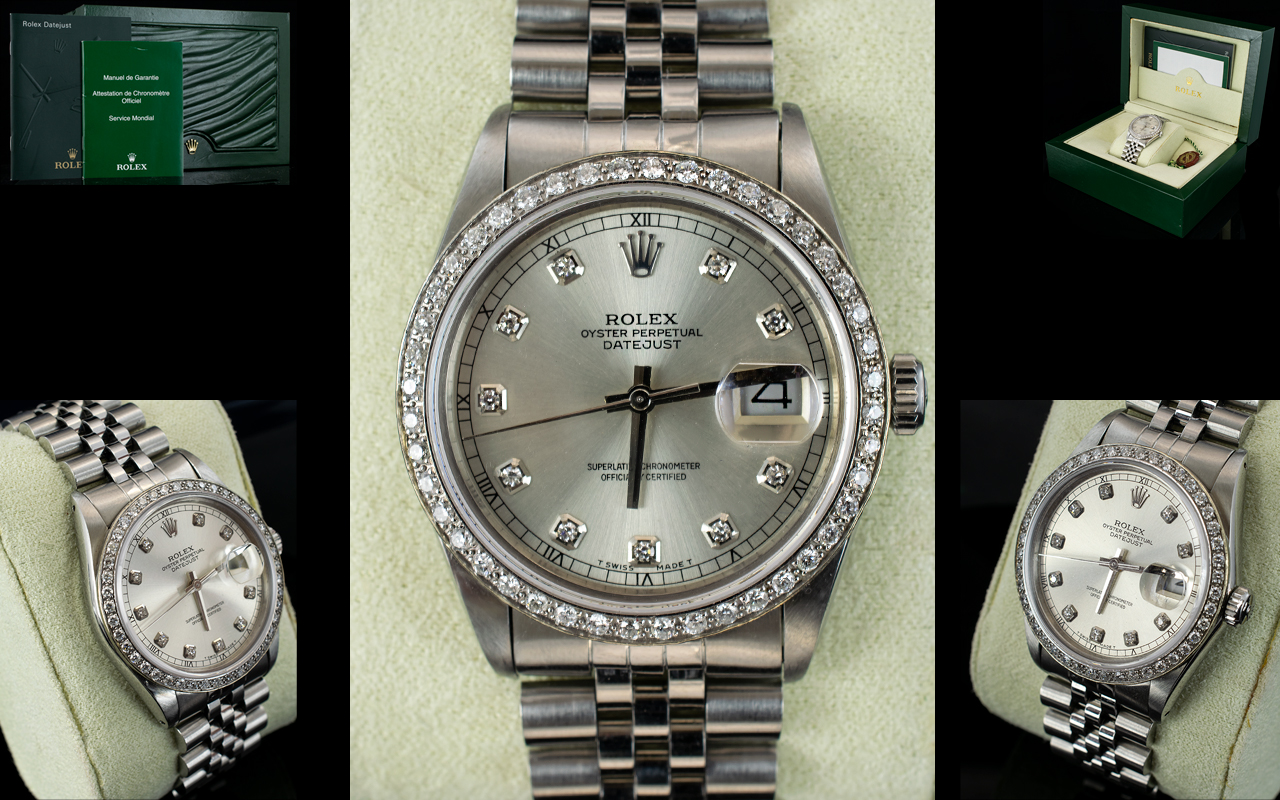 Lot 47 - Rolex Automatic Datejust Gents Stainless