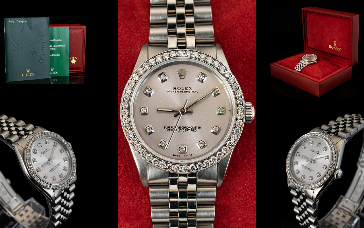 Lot 19 - Rolex Automatic Datejust Midi Size Stain