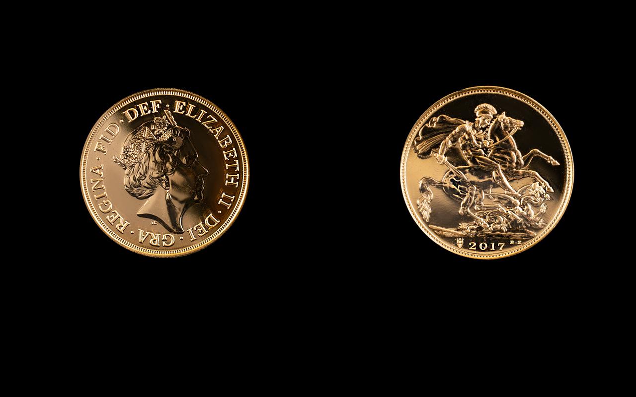 Lot 85A - Royal Mint Queen Elizabeth II 2017 Unite
