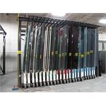 """BROMER, 24 DRAWER, GLASS STORAGE SYSTEM, MAX GLASS SIZE 96"""" T X 140"""" LONG, MAX CAPACITY 4500 LBS."""