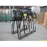 ROLLING PRODUCTION GLASS RACK, DOUBLE SIDED, 2,000 LBS (APPROX.), 4'X 4' X 3'