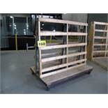 """GRF, 3,000 LBS (APPROX.), 5' X 6' X 45"""", DOUBLE SIDED, ROLLING PRODUCTION GLASS RACK"""
