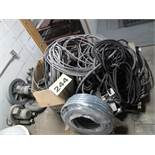 LOT OF POWER CABLE (ASSORTED LENGTHS AND GAUGES)