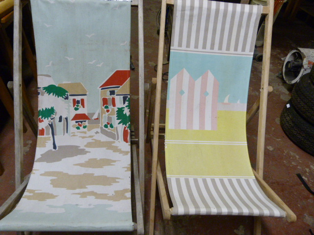 Lot 65 - Two Canvas Deck Chairs
