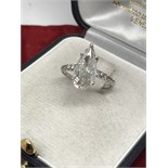 AMAZING 2.20ct DIAMOND SOLITAIRE RING SET IN WHITE GOLD **VIDEO**