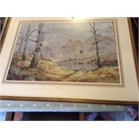 Elizabeth gray original watercolour with important labels to rear