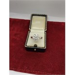 4.20ct DIAMOND SOLITAIRE RING SET IN WHITE METAL TESTED AS 18ct WHITE GOLD