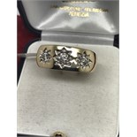 GENTS 0.75ct DIAMOND SET HEAVY RING