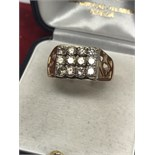 16 STONE DIAMOND GENTS RING APPROX 1.5ct