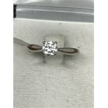 18ct WHITE GOLD 0.60ct DIAMOND SOLITAIRE RING