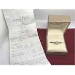 FRASER HEART DIAMOND SOLITAIRE RING WITH RECEIPT