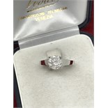 1.50ct SOLITAIRE DIAMOND RING SET IN WHITE METAL TESTED AS 18ct WHITE GOLD