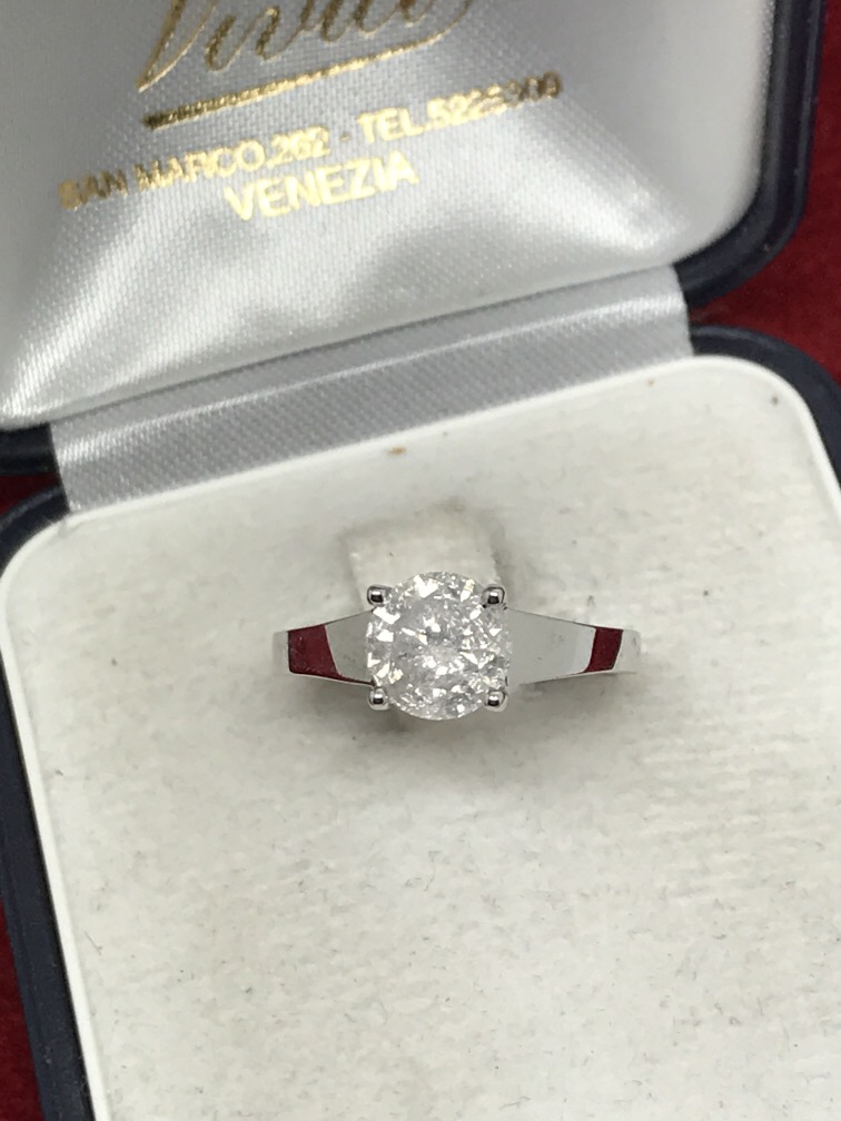 Lot 49 - 1.50ct SOLITAIRE DIAMOND RING SET IN WHITE METAL TESTED AS 18ct WHITE GOLD