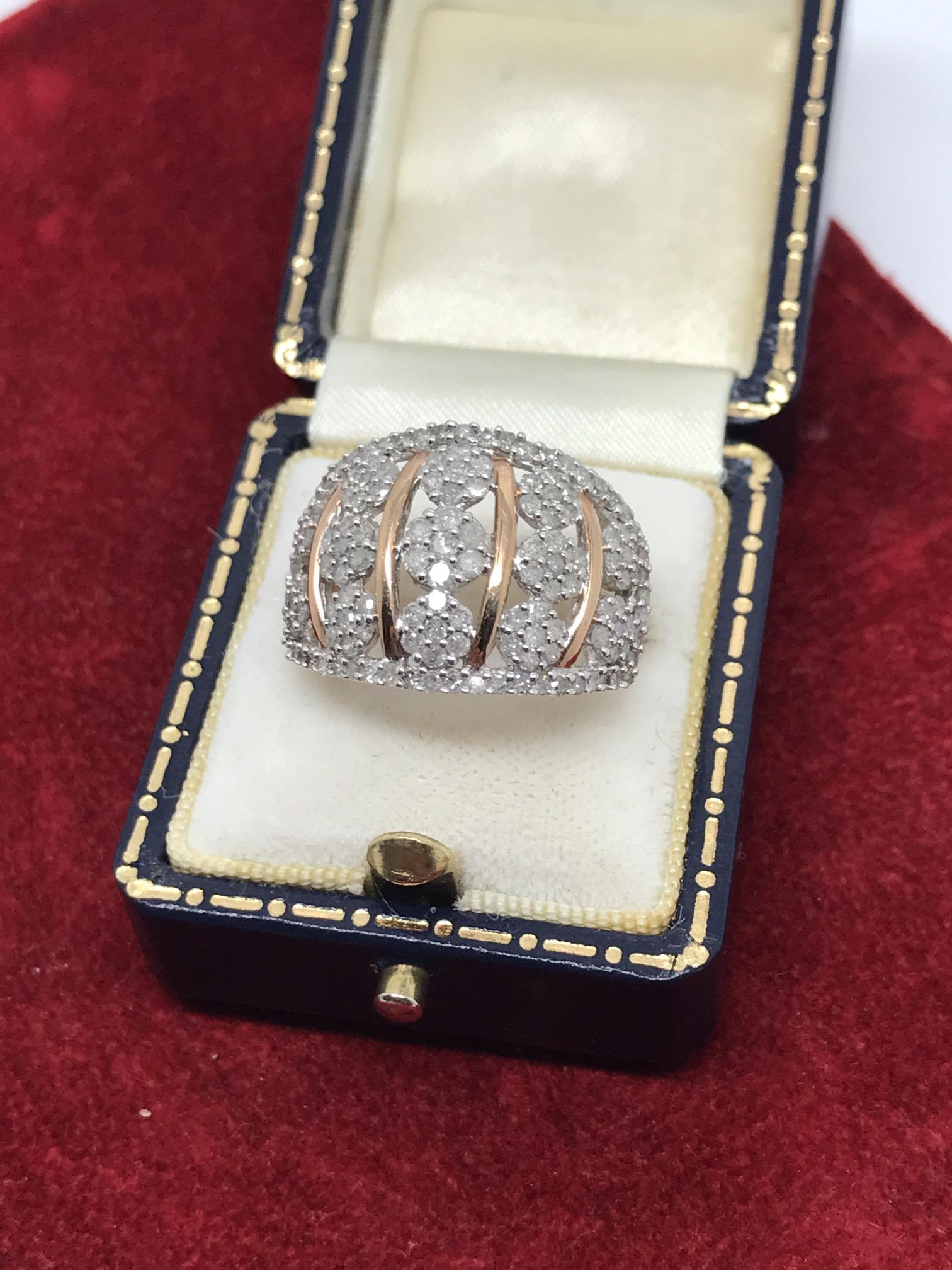 Lot 35 - 1.52CT DIAMOND RING SET IN 9CT ROSE GOLD
