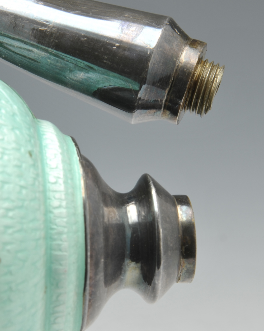 Lot 459 - A modern Korean water sprinkler, of globular form with tall slender neck, the enamel body with