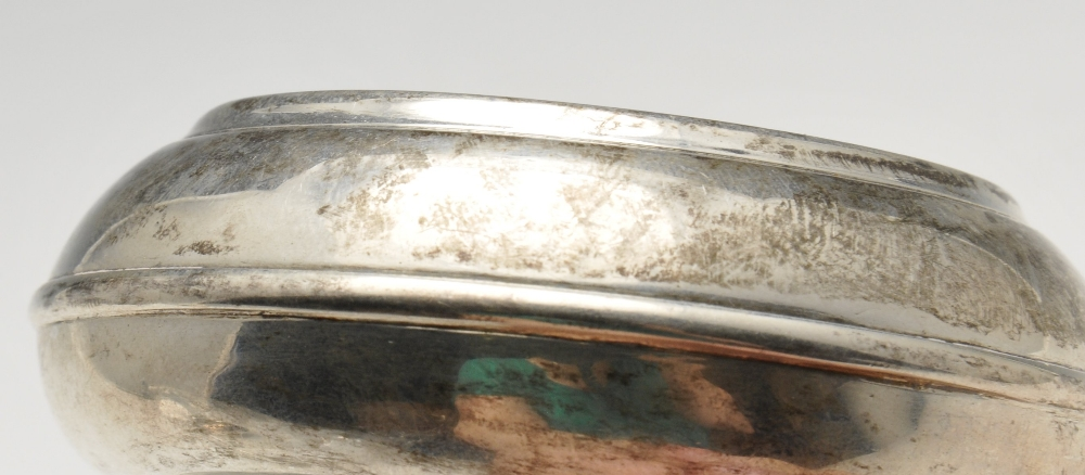 Lot 210 - A pair of early nineteenth century silver salts of trench form. Hallmarked Pairpoint Brothers,