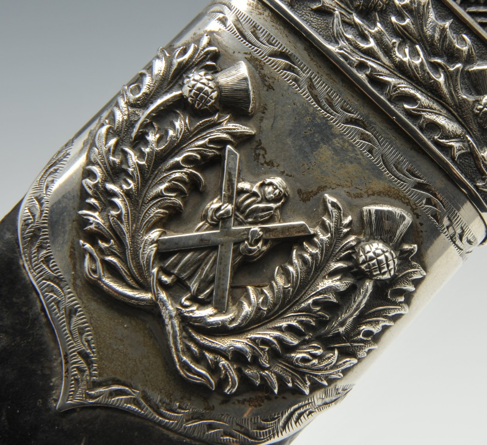 Lot 661 - A turn of the century Queen's Own Cameron Highlanders dirk by R & H.B. Kirkwood of 66 & 68 Thistle