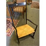 Lot 316 - A Danish rocking chair
