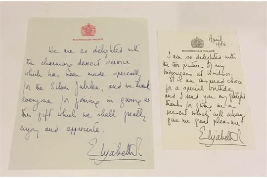 Queen Elizabeth Ii Signed 1977 Silver Jubilee Thank You Letter
